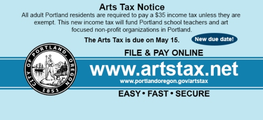 Portland Arts Tax Notice