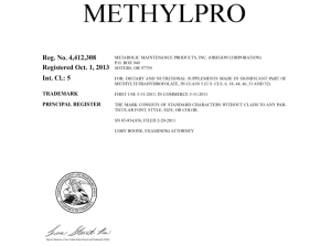 Methylpro Certificate